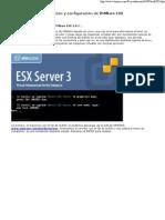 Instalación y configuración de VMWare ESX