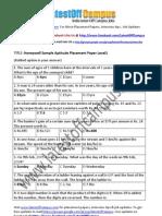 Honeywell Sample Aptitude Placement Paper Level1