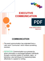EXECUTIVE COMMUNICATION