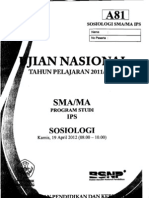 Naskah Soal UN Sosiologi SMA 2012 Paket A81