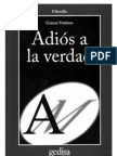 52245319 Gianni Vattimo Adios a La Verdad