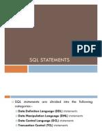 SQL Statements