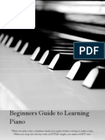 Beginners Guide to Learning Piano