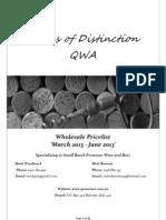 wholesale pricelist march - june 2013