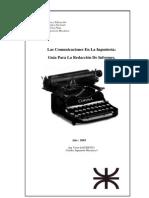 Guía Para La Redacción De Informes