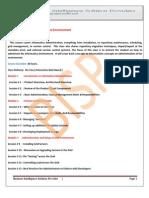 Informatica Administering the Enviornment Course Content