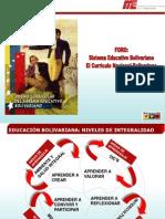 TALLER 01 foro Sistema Educativo Bolivariano y Su currículo JORNADA TA