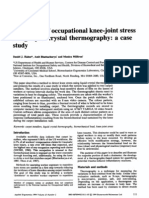 Evaluation of occupational knee-joint stress using liquid crystal thermography