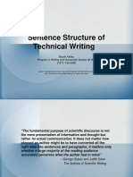 Sentence Structure of Technical Writing