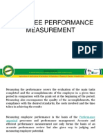 Employee Performance Measurment