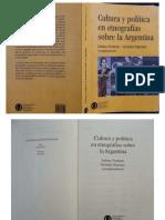 Cultura y política en etnografías sobre la Argentina