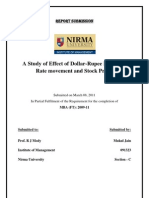 A Study of Effect of Dollar-Rupee Exchange Rate movement and Stock Prices