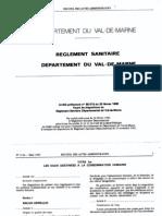 Réglement Sanitaire Départemental 94