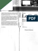 Le-Goff, Jacques-Pensar La Historia