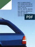 Mercedes w124 Typ 200 T 300 TE 4 matic 1987