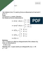 linear algebra Orthogonality