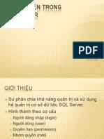 Phan Quyen Trong SQL Server