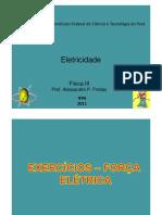 FÍSICA II - EXERCICIOS RESOLVIDOS - CAMPO ELETRICO E GAUSS (1)