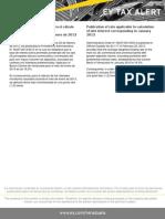 Tax Alert - Publicada Tasa para el cálculo de los intereses moratorios para enero de 2013