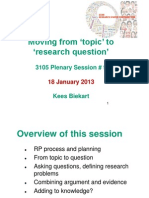 Important From Topic to Question 18 January 2013 (1)