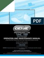 Complete Manual Genie 1500