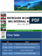 IMS Internal Auditing - Refresher Workshop