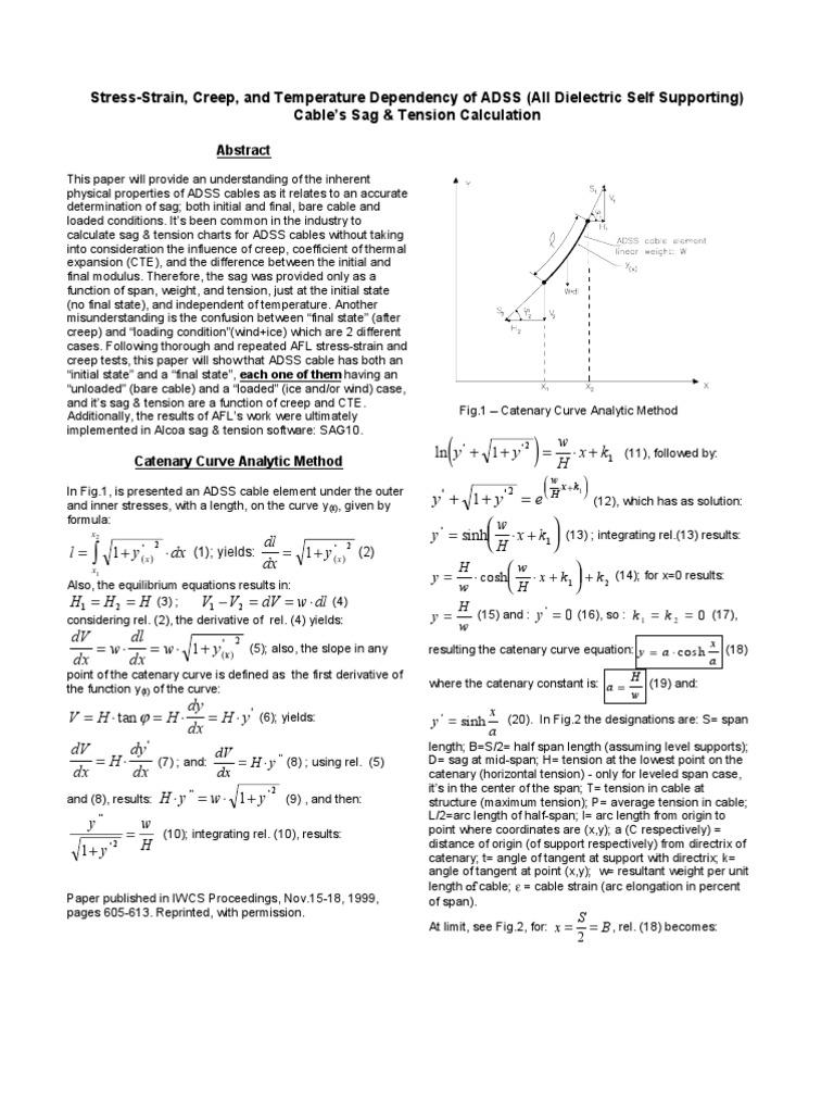 Sag & Tension Calculation | Thermal Expansion | Creep (Deformation)