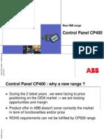 CP400 Control Panel Presentation
