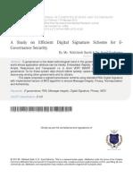 2 a Study on Efficient Digital Signature