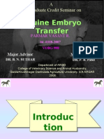 Equine Embryo Transfer- Dr. Vasant Parmar
