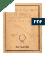 Dolor y Memoria de España en el 2º aniversario de la muerte de José Antonio