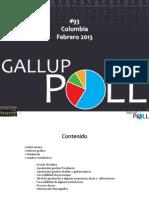 Encuesta Gallup Santos 2013