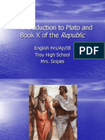 An Introduction to Plato and Book X of the Republic