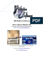 Bill Redirect Dimmer Package Dimensioning