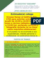 01OFERTAS LABORALES ENERO 2013 (PROFESORES).doc