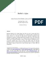 Buffett's Alpha - Frazzini, Kabiller and Pedersen