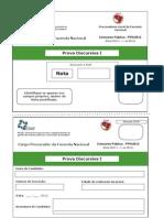 Prova Discursiva I PFN 2012