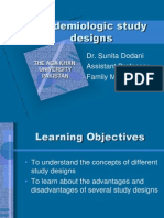 Epidemiological study designs