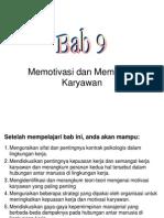 BAB-9 Memotivasi Dan Memimpin Karyawan
