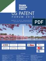 Managing IP's U.S. Patent Forum 2013