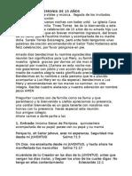 PROGRAMA CEREMONIA DE 15 AÑOS
