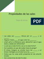 Sopa de Letras Propiedades de Las Sales.