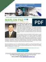 Caribbean Conference on Business Forensics 2013 BIO PROFESSOR MARLON PAZ