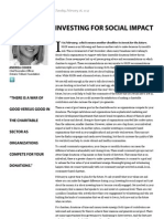 Investing for Social Impact