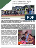 Friend Ships Activities Report for October 2012