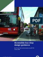 Accessibile Bus Stop Design Guidance