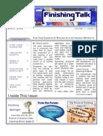 Finishing Talk Newsletter - April  2008