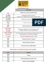 Cronograma PVCST 2013