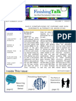 Finishing Talk Newsletter - September 2008