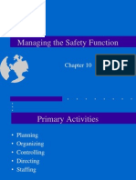 Managing the Safety Function